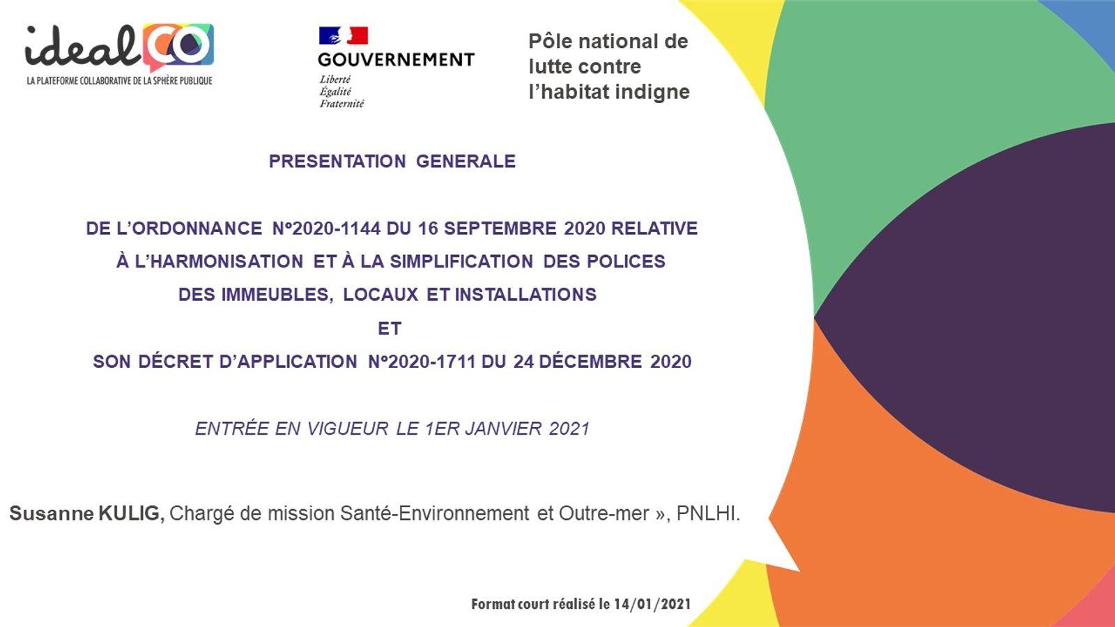 [FORMAT COURT] Les apports de l'ordonnance LHI du 16/09/2020 et de son décret d'application
