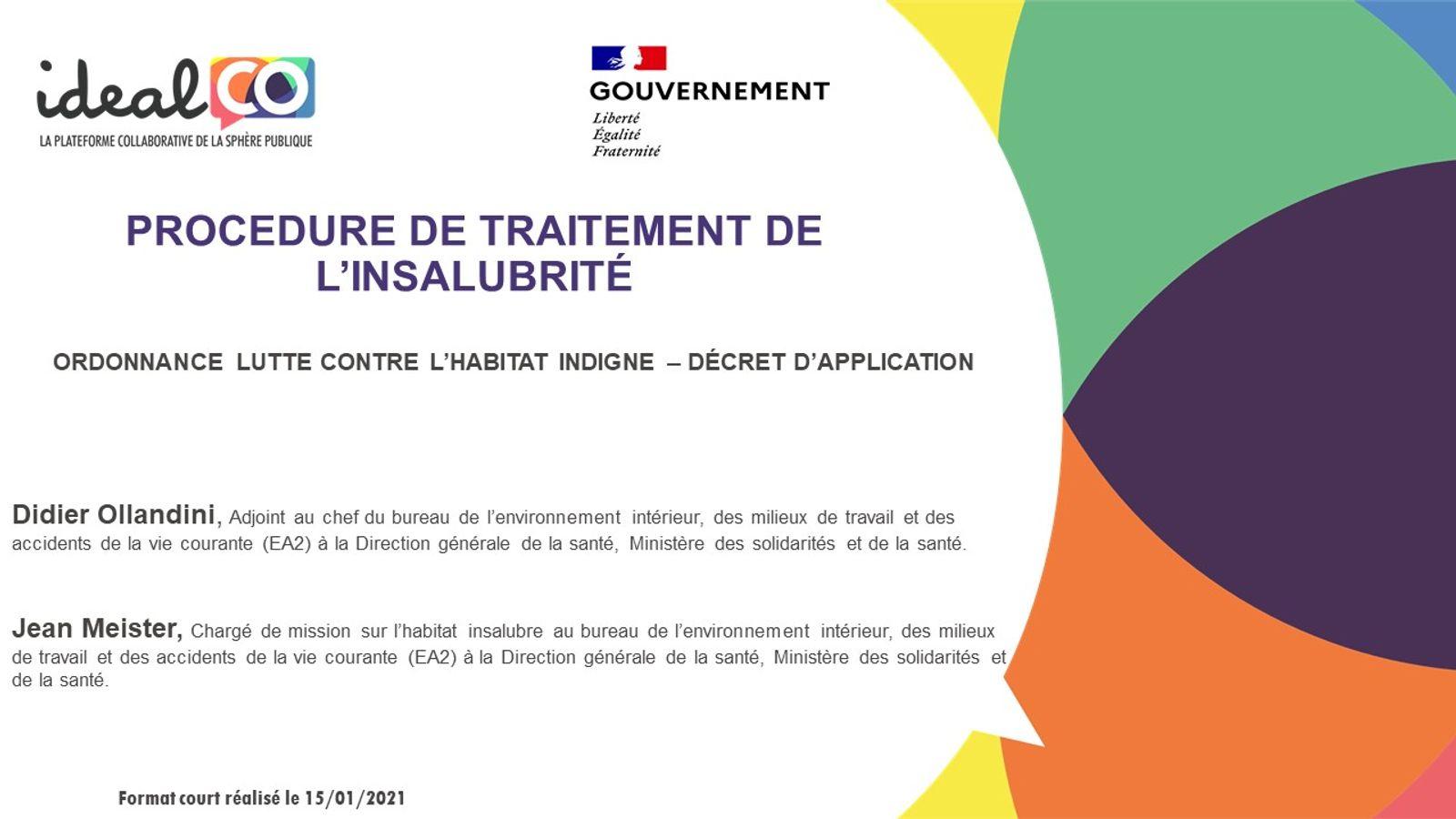 [FORMAT COURT] Les apports de l'ordonnance LHI du 16/09/2020 : la procédure de traitement de l'insalubrité