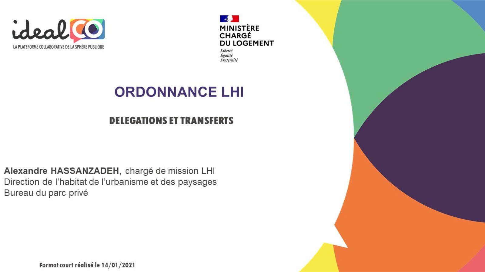 [FORMAT COURT] Les apports de l'ordonnance LHI du 16/09/2020 : transferts et délégation de pouvoirs de police