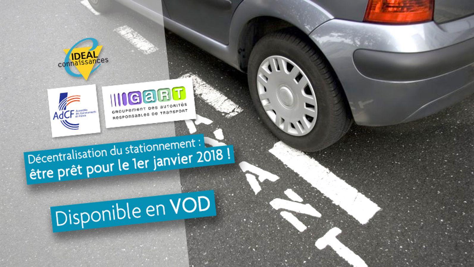 Décentralisation du stationnement : être prêt pour le 1er janvier 2018 !