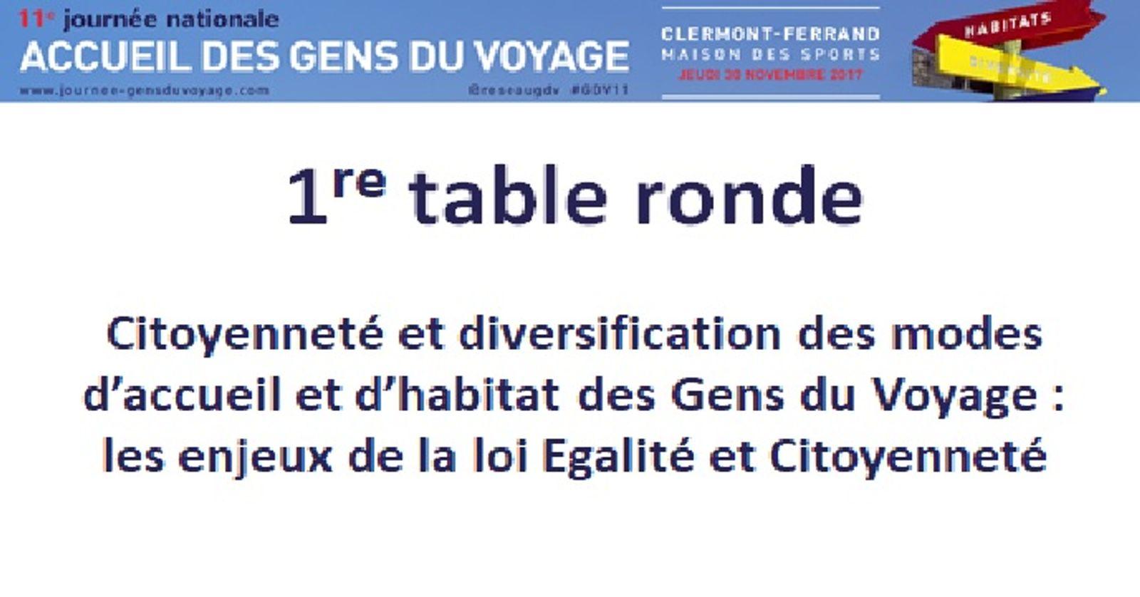 11eme Journée Nationale des Gens du voyage   Première table ronde