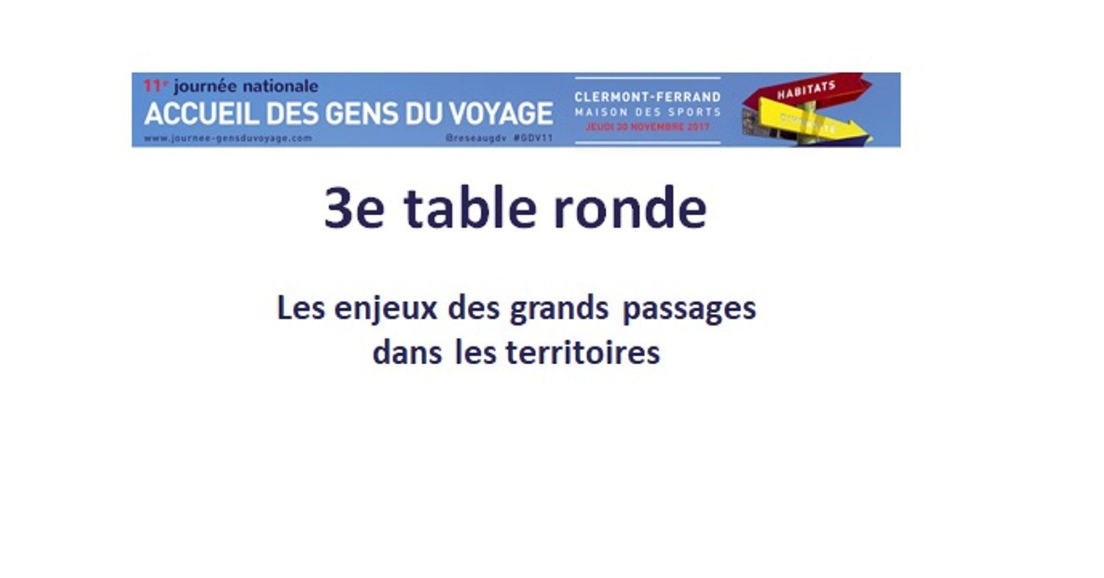 11eme Journée Nationale des Gens du voyage | Troisième table ronde