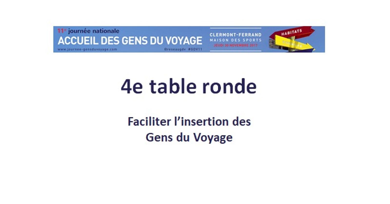 11eme Journée Nationale des Gens du voyage | Quatrième table ronde